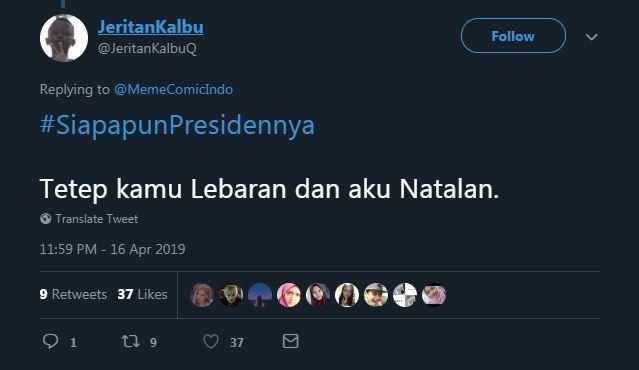 cuitan siapapun presidennya © 2019 brilio.net