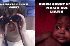 11 Meme lucu memantau quick count ini menggelitik abis
