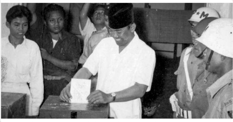 10 Foto jadul pemilu pertama di Indonesia tahun 1955