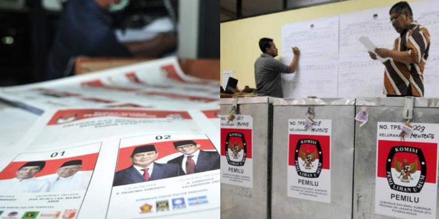 Suara 97,9%, quick count Charta Politika Jokowi:54,32%, Prabowo:45,68%