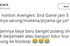 10 Cuitan lucu Avengers: Endgame tayang jam 5 pagi bikin tepuk jidat
