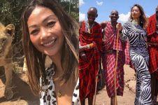 10 Potret liburan Indah Kalalo di Afrika Selatan, jelajah alam liar