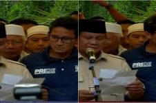 Prabowo dan Sandi deklarasikan diri presiden & wapres 2019-2024