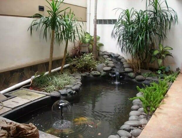 Desain kolam ikan minimalis istimewa