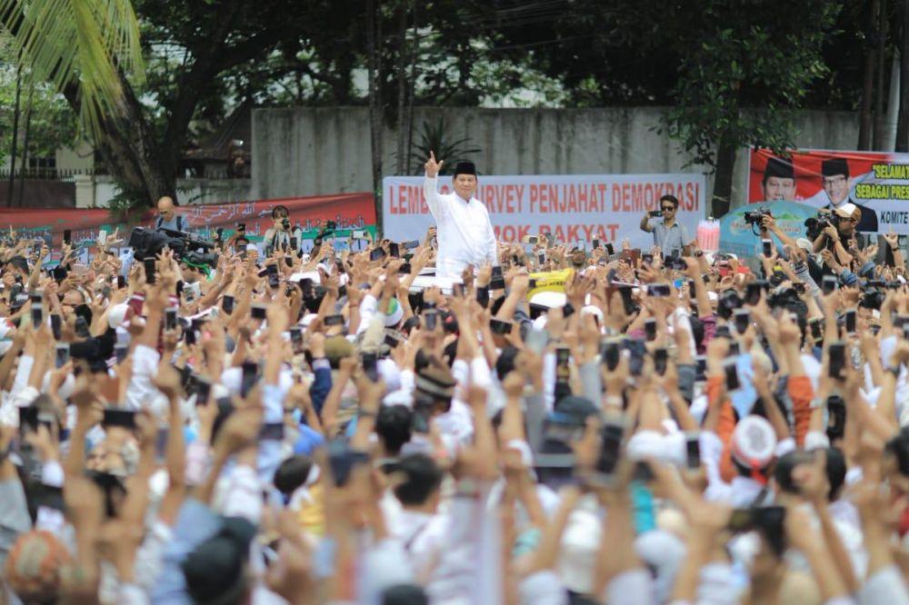 momen syukuran Prabowo  © 2019 brilio.net