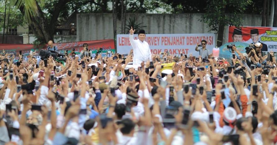 Tanpa Sandi, ini 9 momen syukuran klaim kemenangan Prabowo