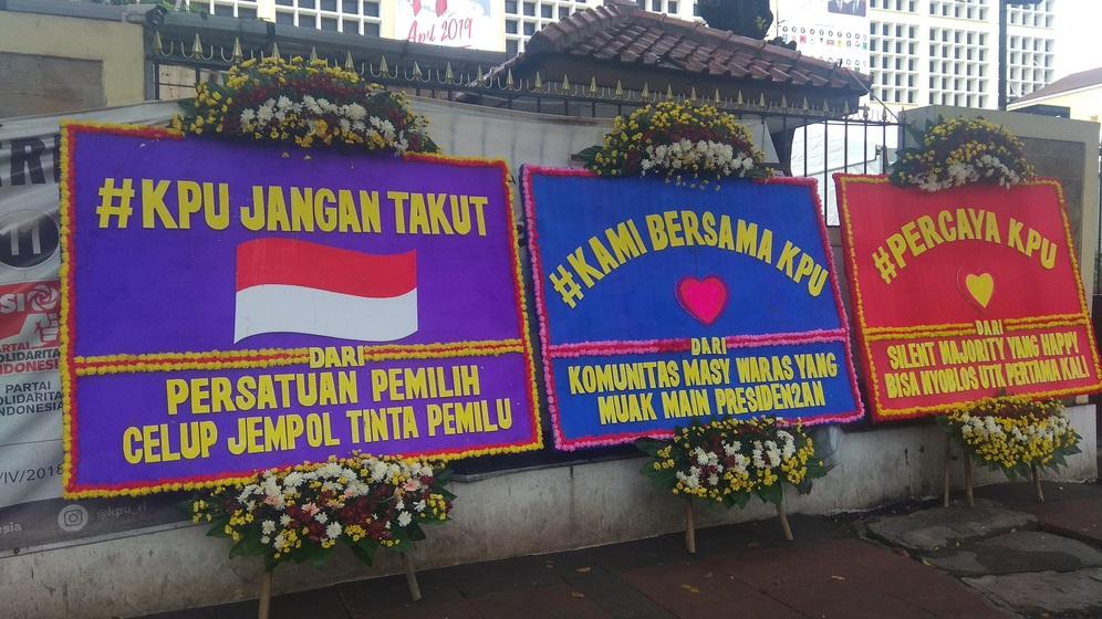 karangan bunga KPU merdeka