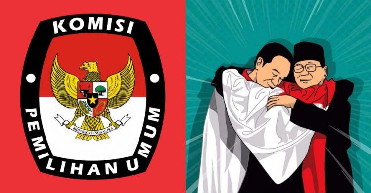 Real count KPU terbaru: Jokowi 54,88% - Prabowo 45,12%