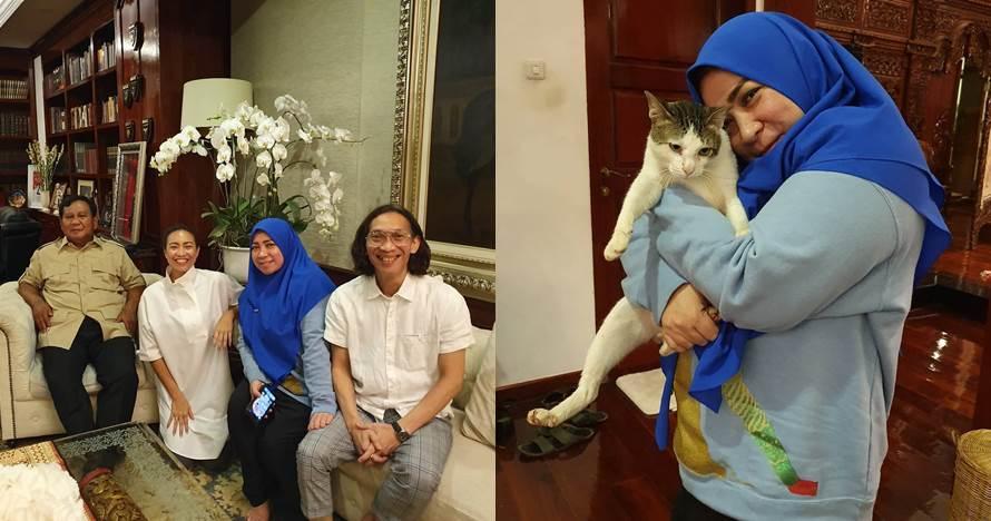 7 Momen Melly Goeslaw sambangi Prabowo, bermain dengan Bobby