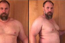 Pria berbobot 145 kg ini buktikan bisa punya tubuh atletis di usia tua