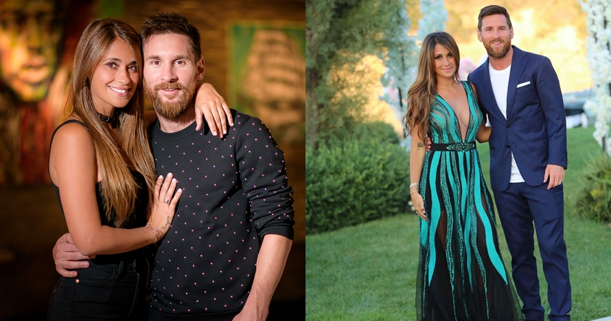 Viral, foto lawas Messi usia 10 tahun bareng istrinya tahun 1998