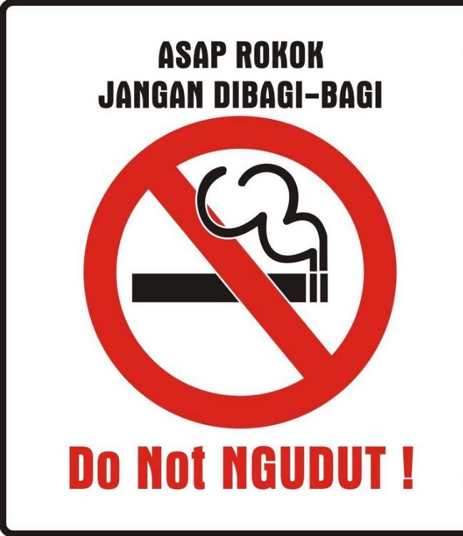 peringatan larangan merokok senyum kecut © berbagai sumber