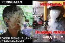 12 Peringatan dilarang merokok ini kocak, malah bikin senyum kecut