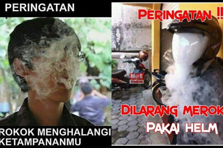 peringatan dilarang merokok ini kocak malah bikin senyum kecu