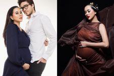 6 Pemotretan maternity Aura Kasih, kasual hingga mirip ratu