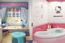 25 Desain kamar mandi anak, penuh warna dan cute