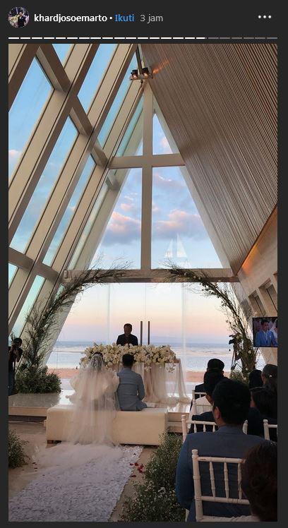 Momen pernikahan Ajun Perwira dan Jennifer Jill  istimewa