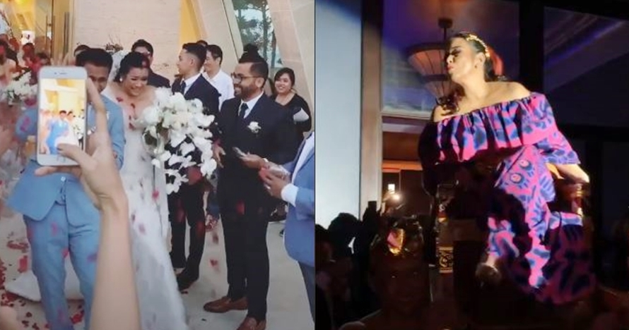 10 Potret meriahnya pesta nikah Ajun & Jennifer, joget diiringi DJ