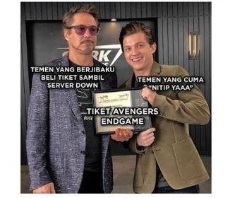 Meme Avengers tiket twitter