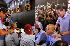 Aksi Sandiga Uno pijati relawan penginput data C1 biar semangat