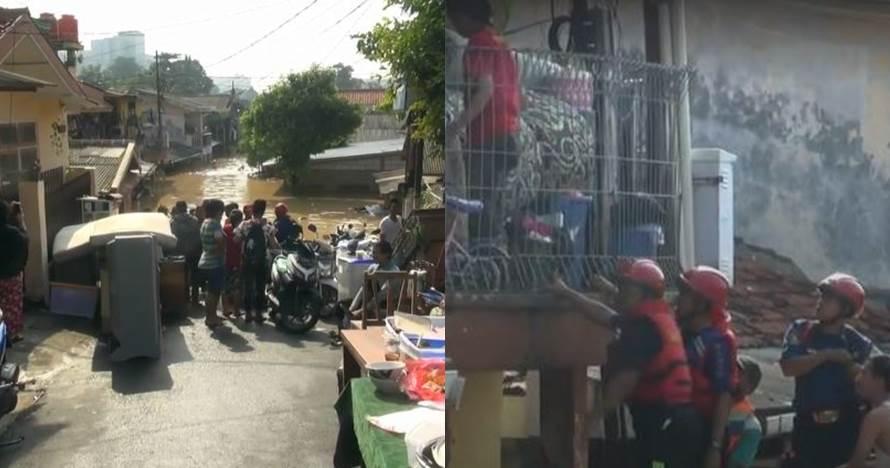 10 Foto proses evakuasi warga korban banjir Kali Ciliwung