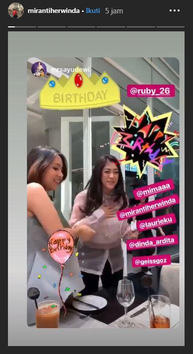 Momen ulang tahun Aliya © 2019 brilio.net