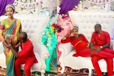 Hamil tujuh bulan, ini 7 momen upacara bangle Kimmy Jayanti