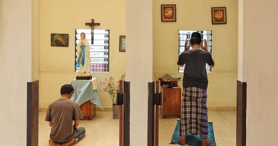 Cerita menyentuh di balik foto ruang doa dua agama yang viral