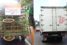 11 Tulisan lucu di kendaraan angkutan barang ini kocak abis