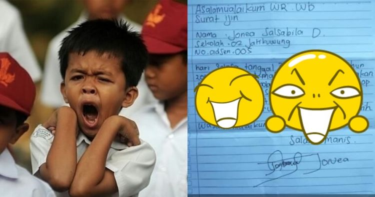 Tulis surat izin, alasan bocah ini tak masuk sekolah bikin ngakak