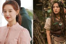 9 Pesona Kim Ji-won jadi suku primitif, cantiknya nggak luntur