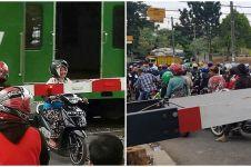 10 Kelakuan pengendara di perlintasan kereta api, bikin tepuk jidat