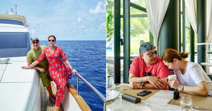 11 Potret liburan Maia Estianty & suami di Maldives, mesra abis
