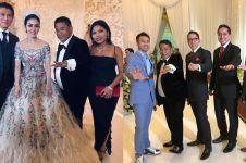 Gaya 13 seleb di resepsi Syahrini & Reino di Jakarta, glamor abis