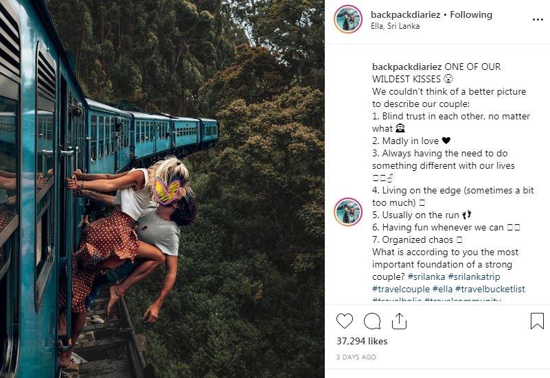 Pose menantang maut demi like di Instagram  © 2019 brilio.net
