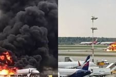 Kronologis terbakarnya Sukhoi Superjet 100 di Rusia