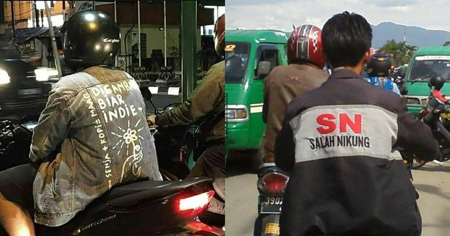 10 Tulisan lucu di belakang jaket ini bikin susah nahan tawa