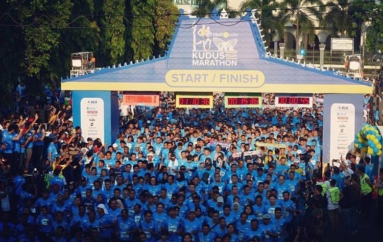 Wah lomba marathon ala Ekiden di Jepang kembali digelar di Kudus nih