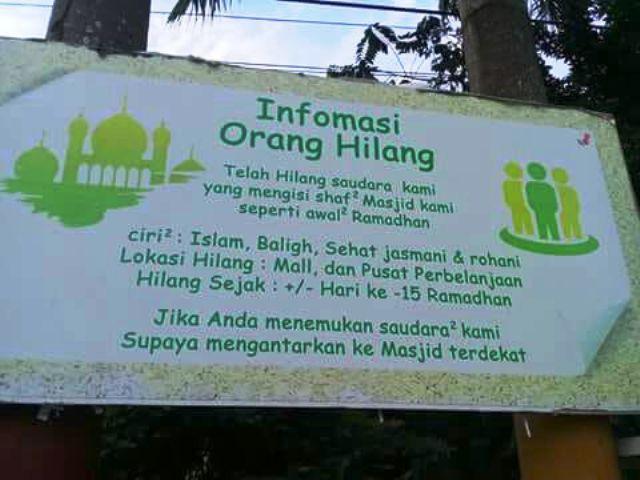 spanduk pengumuman sentil malas ramadan © berbagai sumber