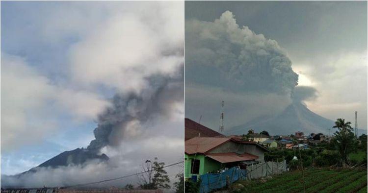 Gunung Sinabung erupsi, ketinggian kolom abu capai 2.000 meter
