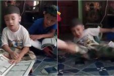 Viral video bocah tahan kantuk saat ngaji, kasihan tapi kocak pol