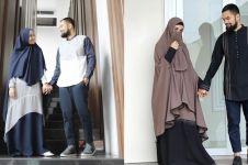 10 Inspirasi baju muslim Teuku Wisnu-Shireen Sungkar, kompak