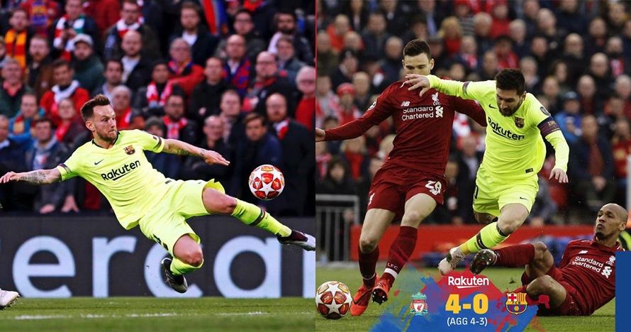 Kata bek Barcelona soal sepak pojok 'tipuan' Liverpool