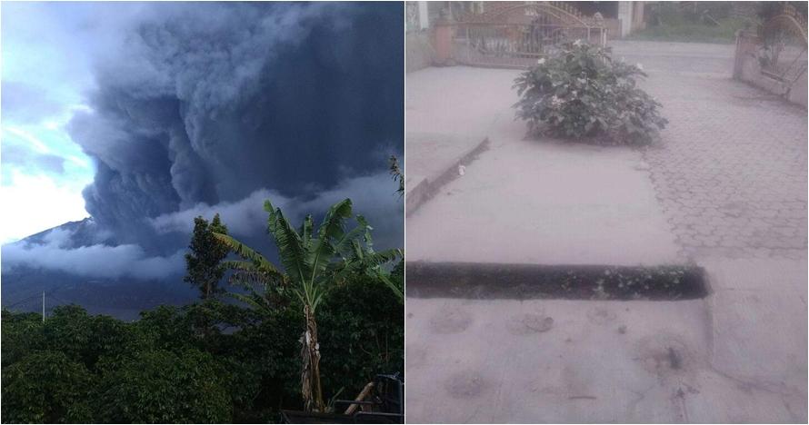 Kondisi terkini Gunung Sinabung pasca erupsi, hujan abu tebal