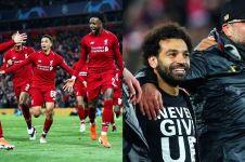 Begini perayaan di kamar ganti Liverpool usai kalahkan Barcelona