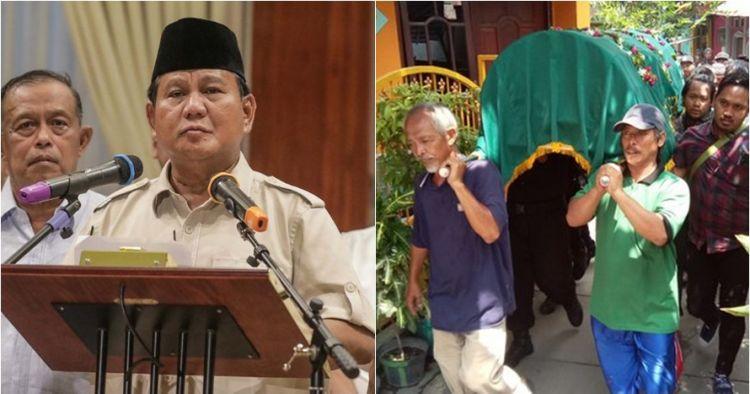 Prabowo minta petugas KPPS yang meninggal divisum