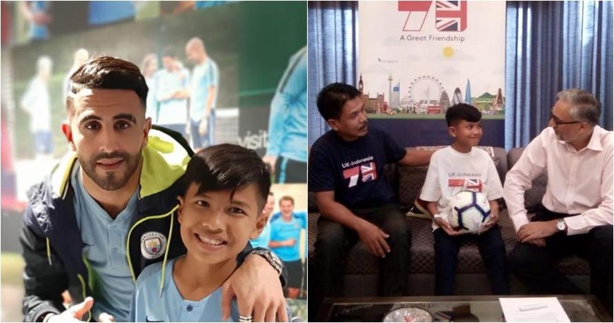 Kisah Rizky, korban gempa Palu bertemu bintang Manchester City