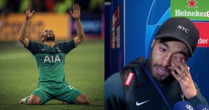 Lucas Moura berlinang air mata melihat aksinya cetak gol kemenangan