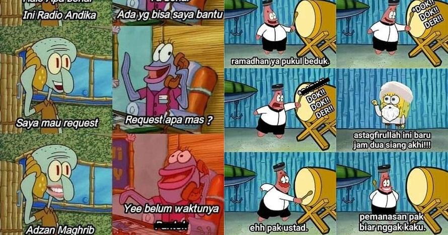 15 Meme lucu kehidupan SpongeBob di bulan Ramadan bikin ngakak