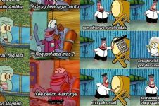 15 Meme lucu kehidupan SpongeBob di bulan Ramadan, bikin ngakak